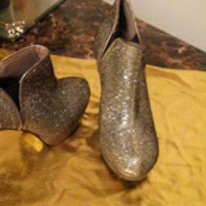 Silver Glitter heels